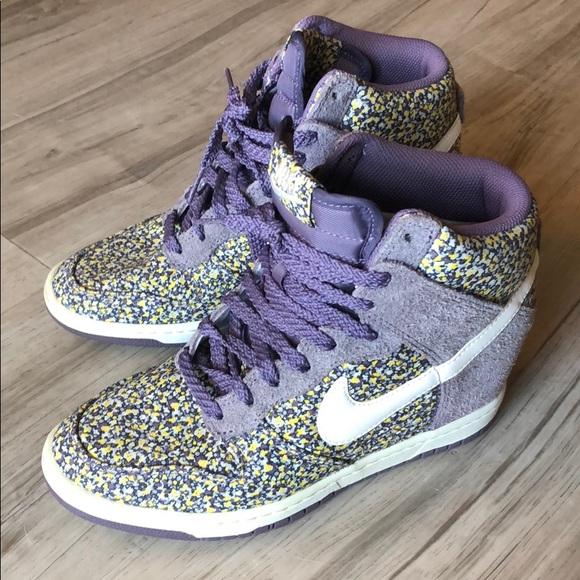 release info on top fashion new high quality Nike Shoes | Liberty London X Dunk Sky Hi Purple Floral | Poshmark